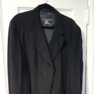 Burberry 100% cashmere navy coat